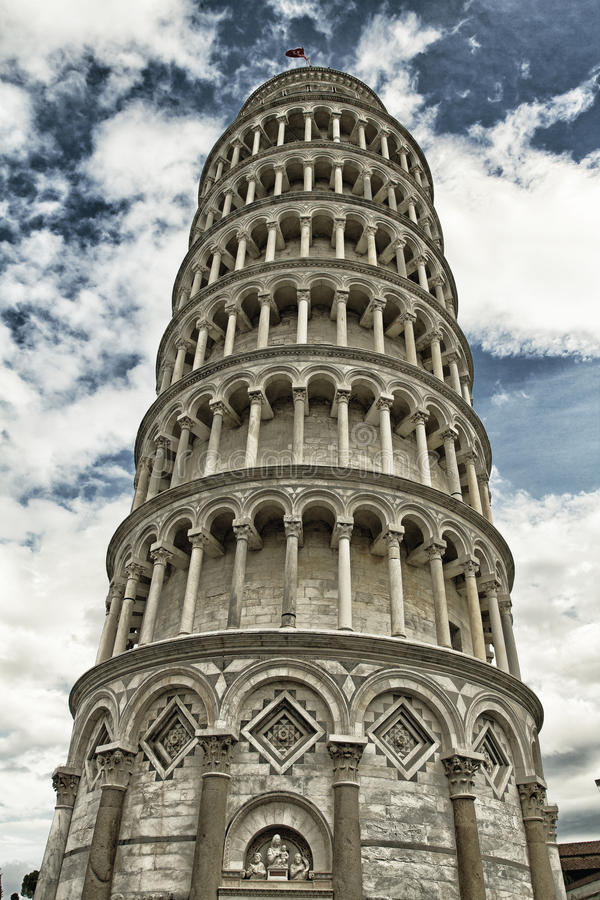 De Toren van Pisa stock afbeelding