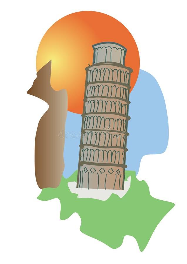 De toren van Pisa Italië stock foto's