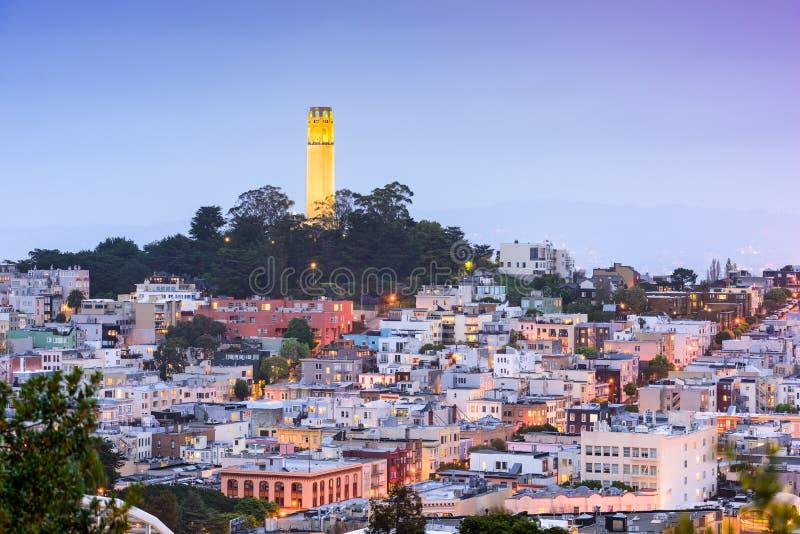 De Toren van San Francisco Coit royalty-vrije stock foto