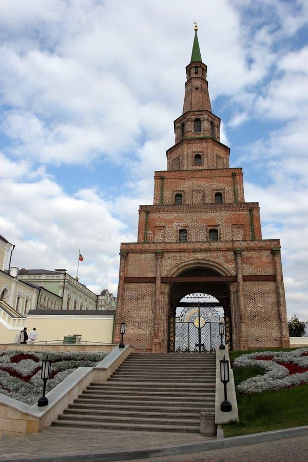 De Toren van Siyumbike in Kazan Rusland royalty-vrije stock afbeelding