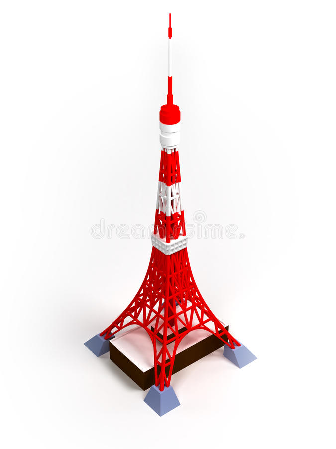 De toren van Tokyo royalty-vrije illustratie