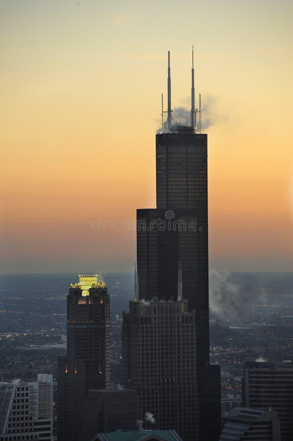De toren van Willis in Chicago stock afbeeldingen