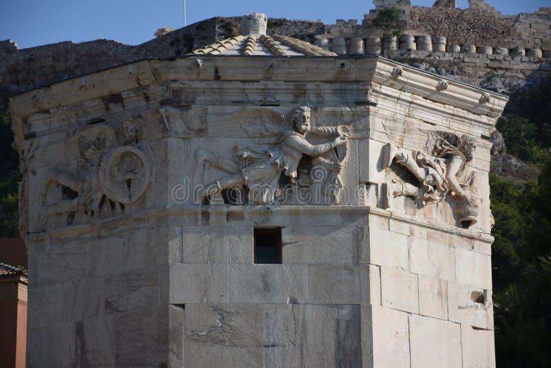 De Toren de Winden, Athene, Griekenland stock foto