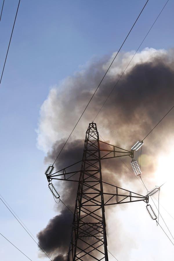 De torenbrand van de transmissie royalty-vrije stock afbeelding