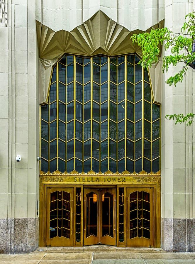 De Torendeuren van New York stad-Stella stock afbeelding