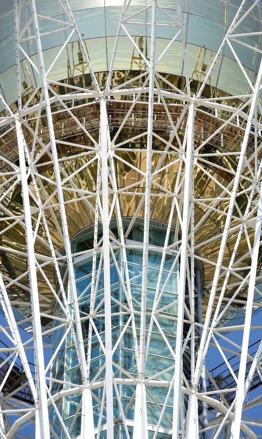 De torenfragment van Baiterek van Astana royalty-vrije stock foto's