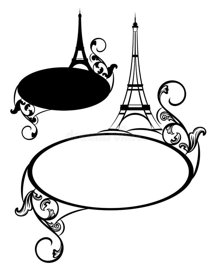 De torenontwerp van Eiffel stock illustratie