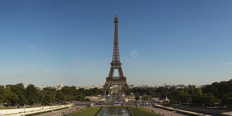 De Torenpanorama van Eiffel stock afbeeldingen