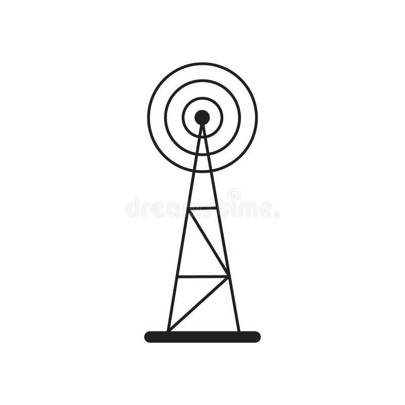 De Torenpictogram van de celtelefoon royalty-vrije illustratie