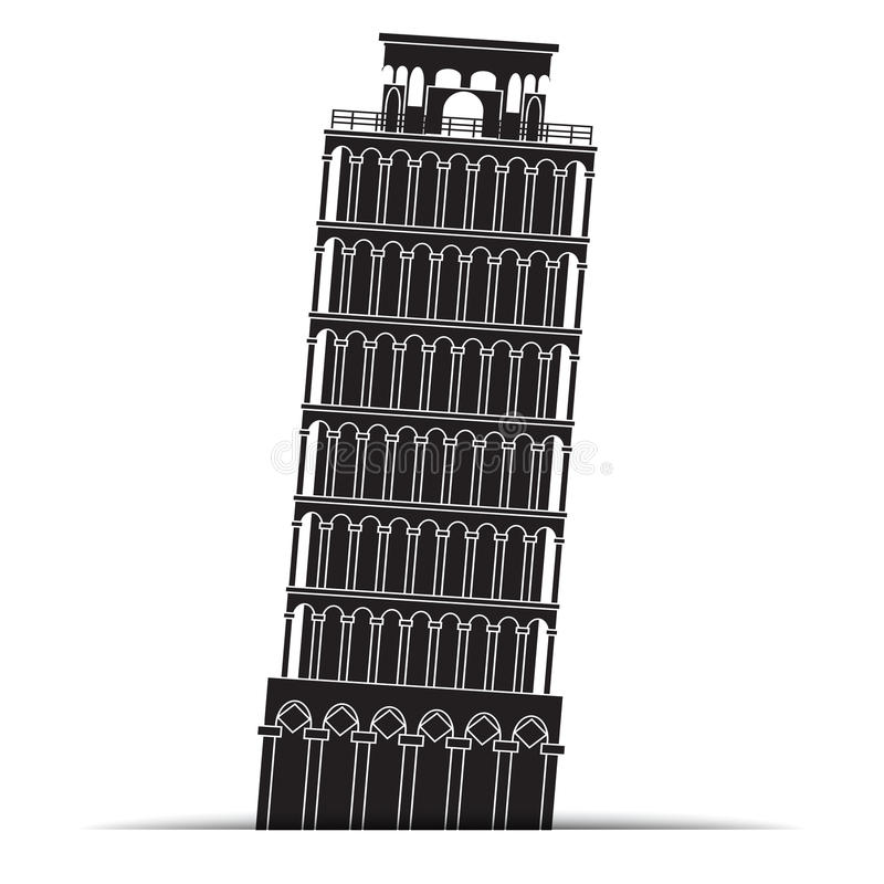 De torenpictogrammen van Pisa, symbool royalty-vrije illustratie