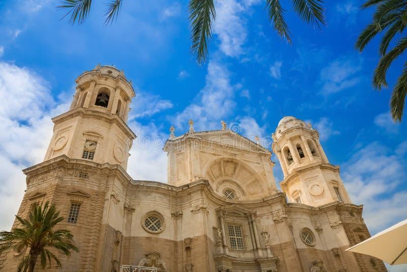 De torens van CÃ ¡ diz Kathedraal, La Santa Cruz van Catedral DE stock fotografie