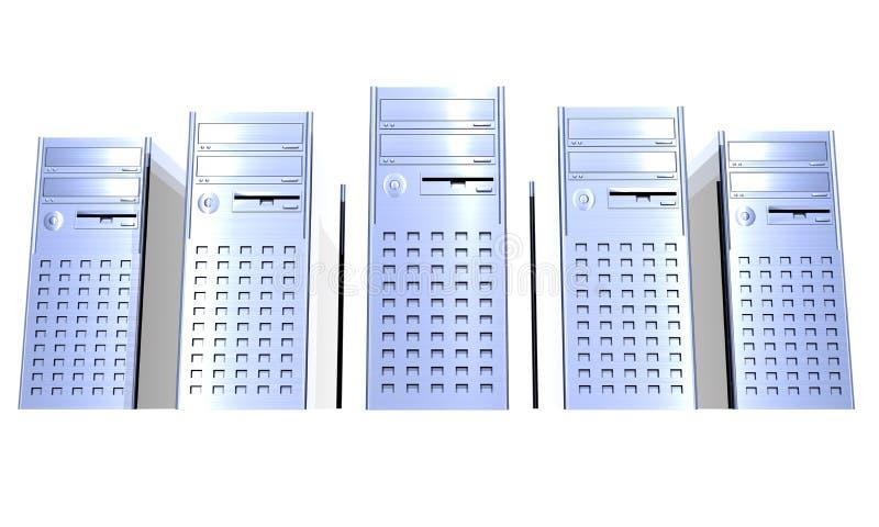 De Torens van de computer royalty-vrije illustratie