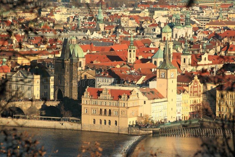 De torens van Praag stock afbeeldingen