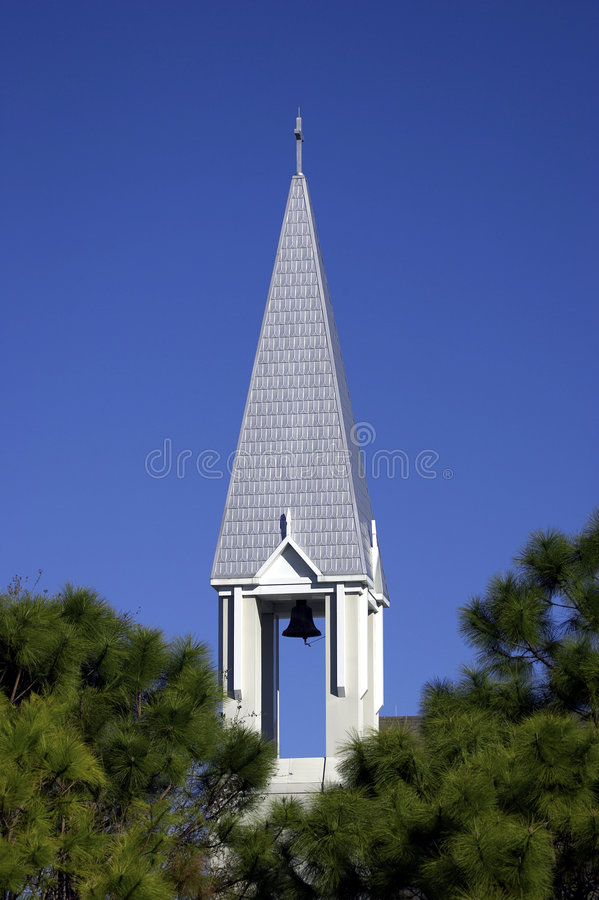 De torenspits van de kerk in kleine stad van viering Orlando Florida Verenigde Staten de V.S. stock afbeeldingen