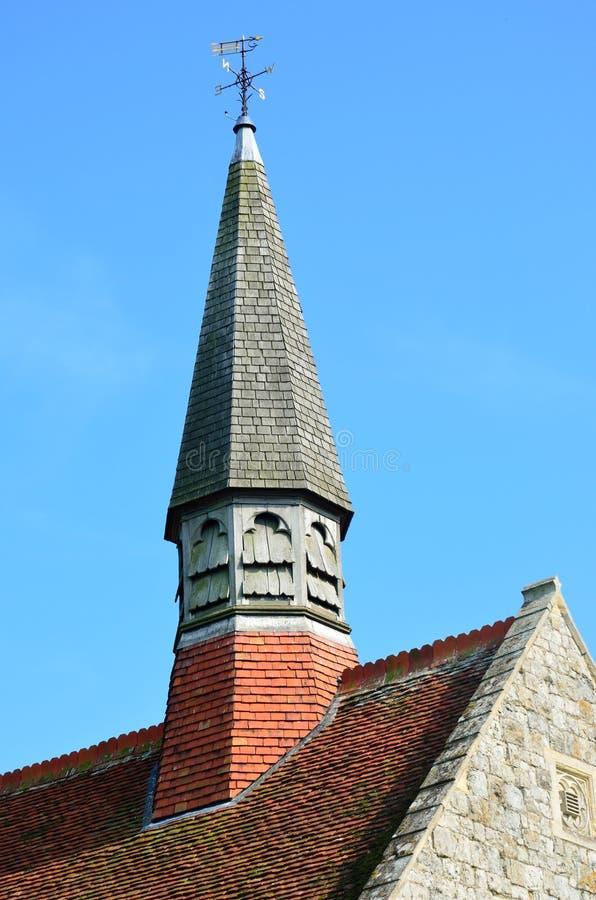 De torenspits van de parochiekerk royalty-vrije stock foto's