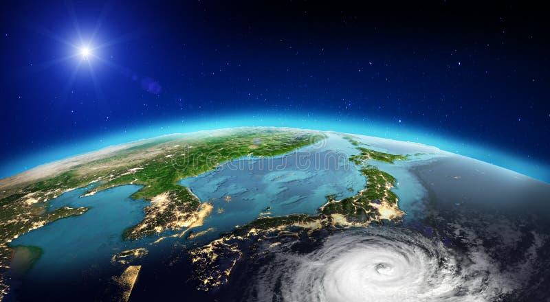De tornado van Japan het 3d teruggeven stock afbeeldingen