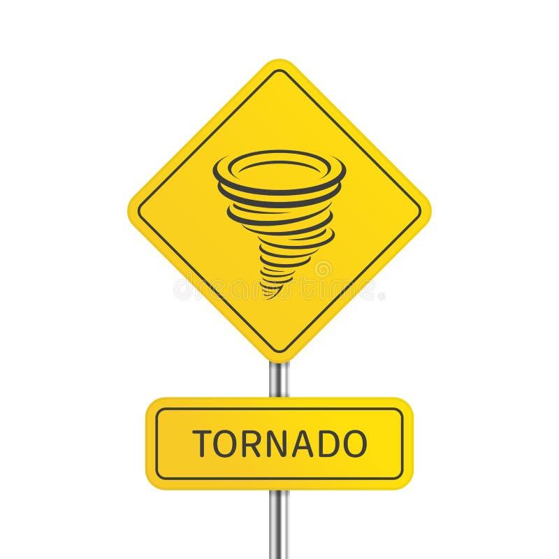 De tornadoteken van de waarschuwing vector illustratie