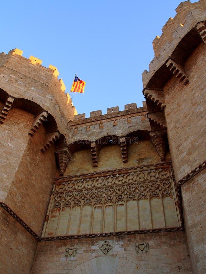 de torres Serranos Valencia fotografia stock