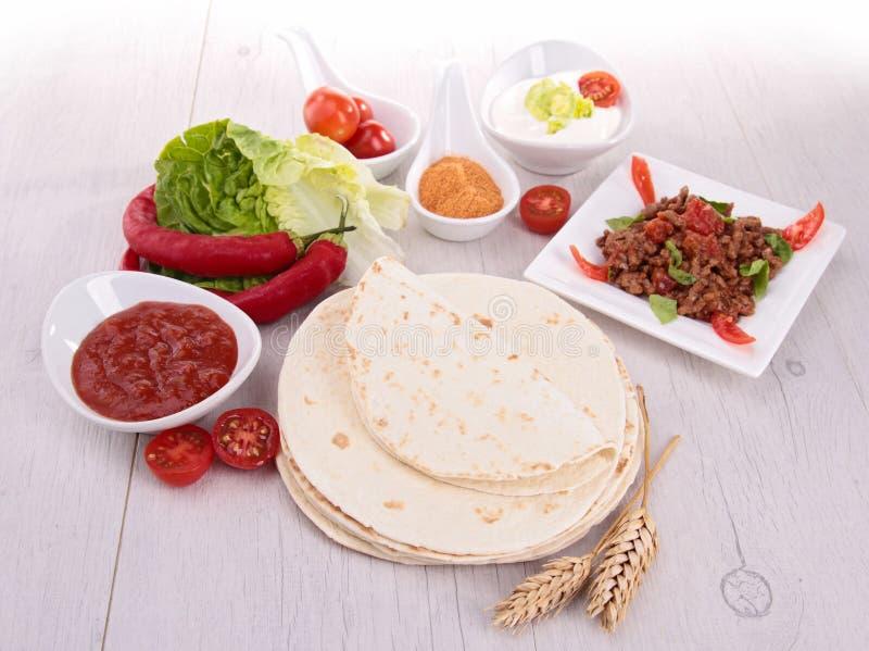De tortilla's van de bloem royalty-vrije stock afbeelding