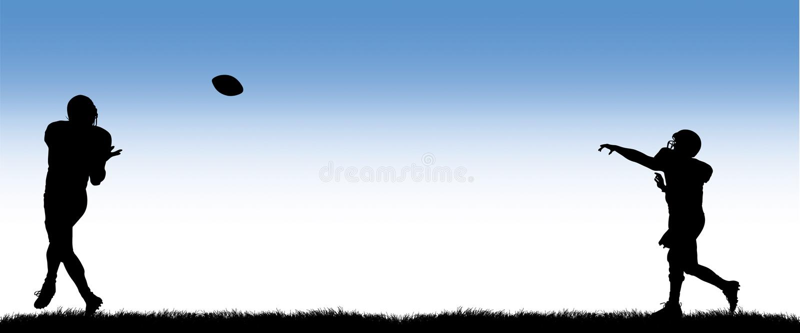 De Touchdown van de voetbal royalty-vrije illustratie