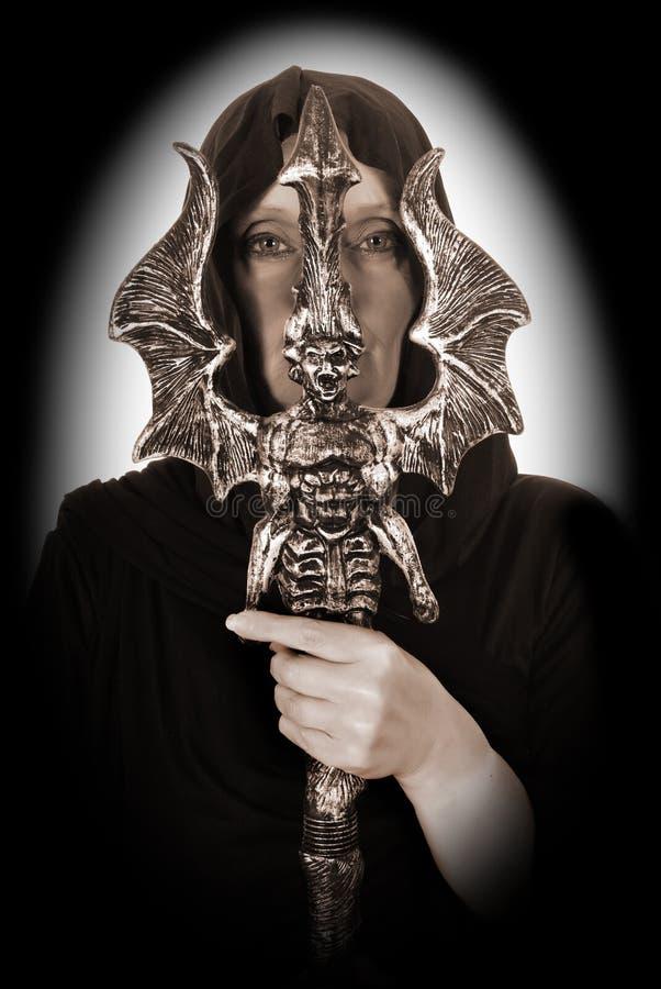 De tovenaar van Halloween royalty-vrije stock afbeelding