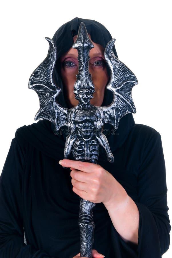 De tovenaar van Halloween stock fotografie