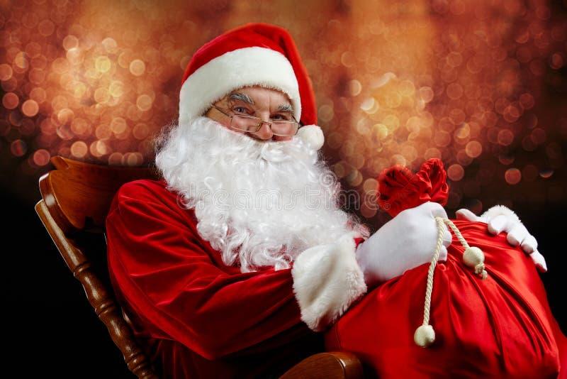 De tovenaar van Kerstmis royalty-vrije stock afbeelding