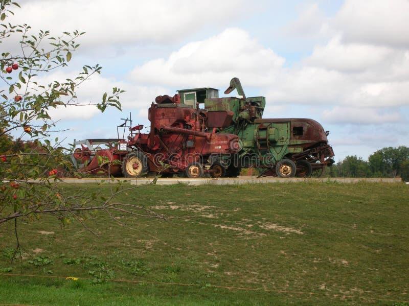 De Tractoren van het landbouwbedrijfmateriaal stock afbeeldingen
