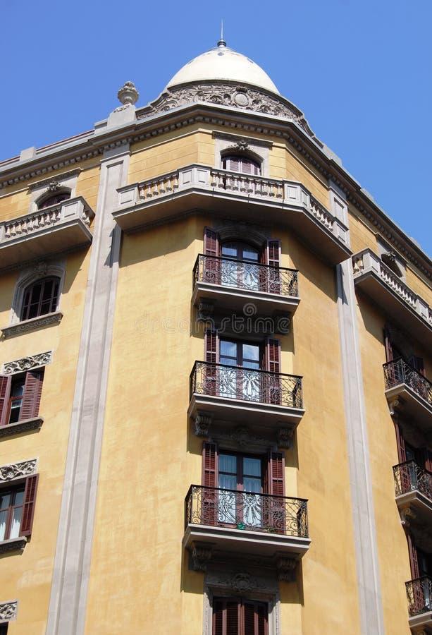 De traditionele architectuur van Barcelona stock foto