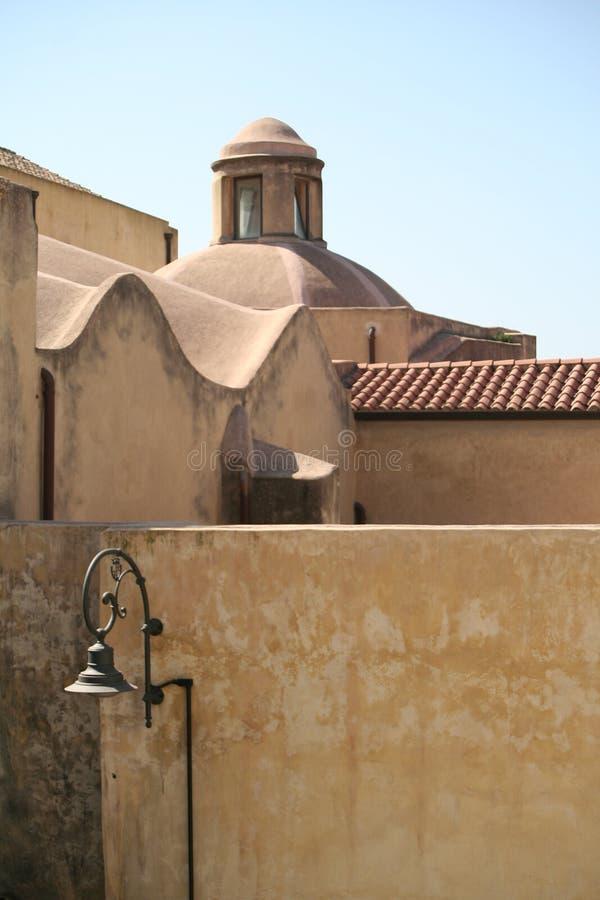 De traditionele architectuur van Sardinige stock foto
