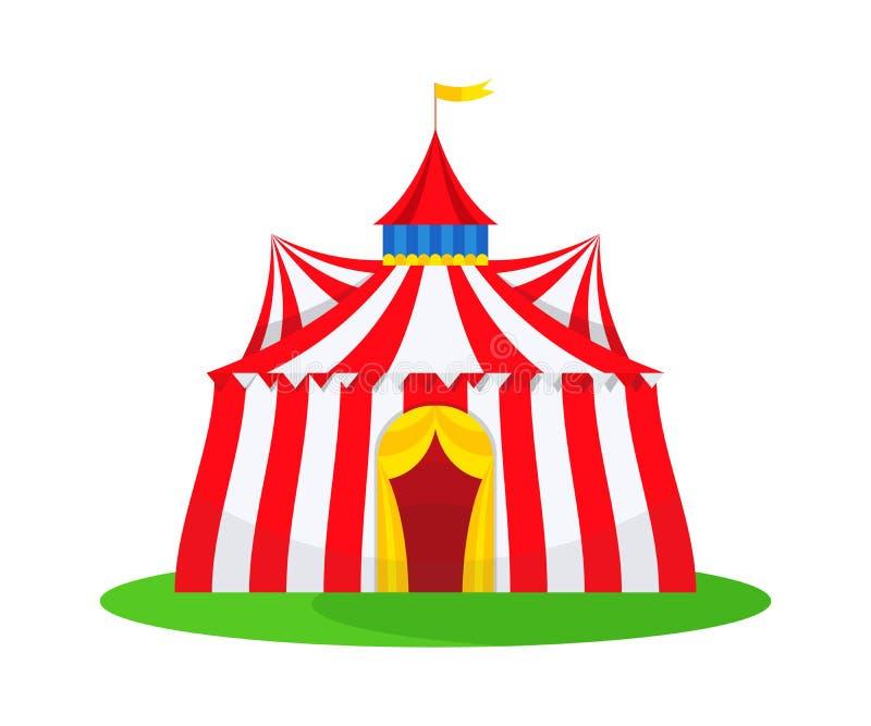 De traditionele bouw aan mening van de interesserende trucs, circuskunstenaars royalty-vrije illustratie