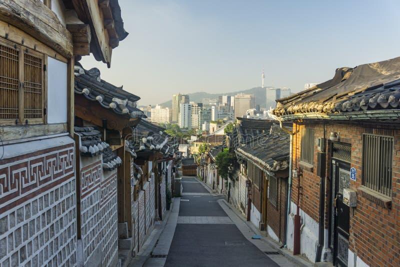 DE TRADITIONELE BOUW IN KOREA royalty-vrije stock afbeeldingen
