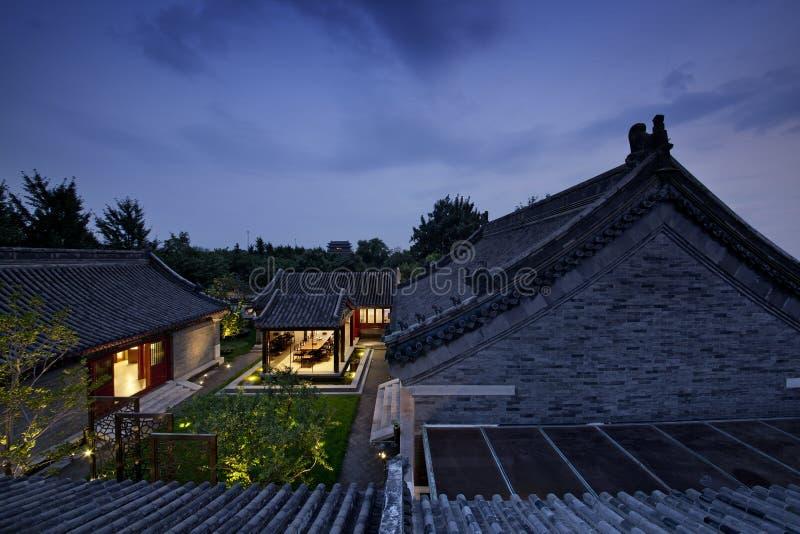 De traditionele Bouw van Peking stock afbeeldingen