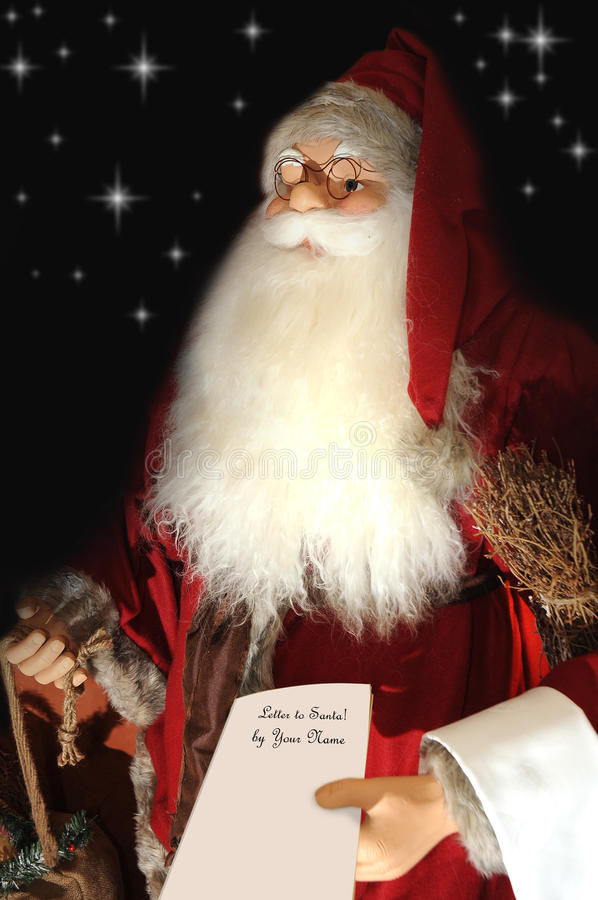 De traditionele brieven van de Kerstman en van kinderen stock foto