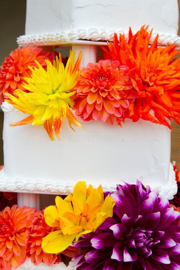 De traditionele Cake van het Huwelijk stock fotografie