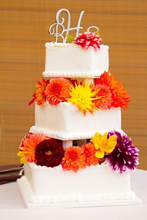 De traditionele Cake van het Huwelijk royalty-vrije stock foto