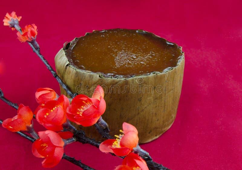 De traditionele Chinese Cake van het Nieuwjaar stock afbeeldingen