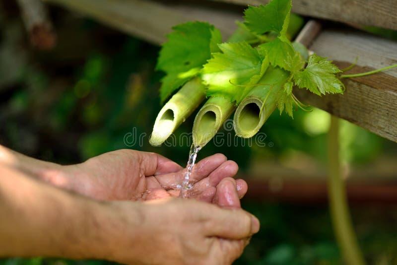 De traditionele Fontein van het Bamboe stock afbeelding
