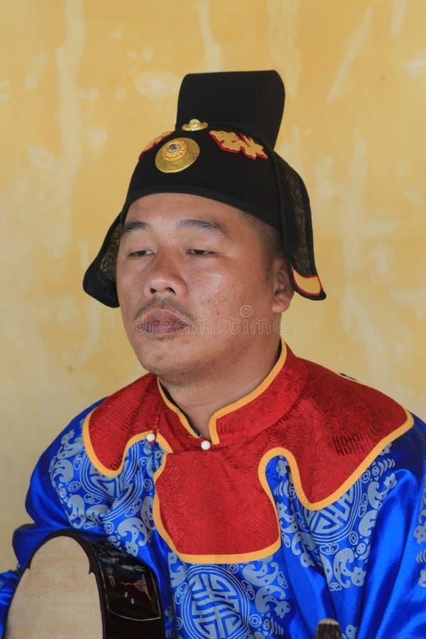 De traditionele gebeurtenis van muziekprestaties in Vietnam stock fotografie