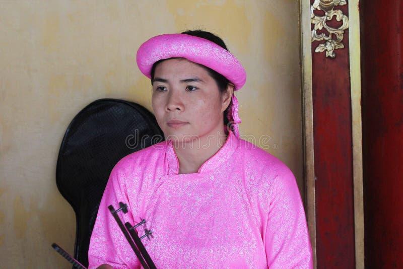 De traditionele gebeurtenis van muziekprestaties in Vietnam royalty-vrije stock foto