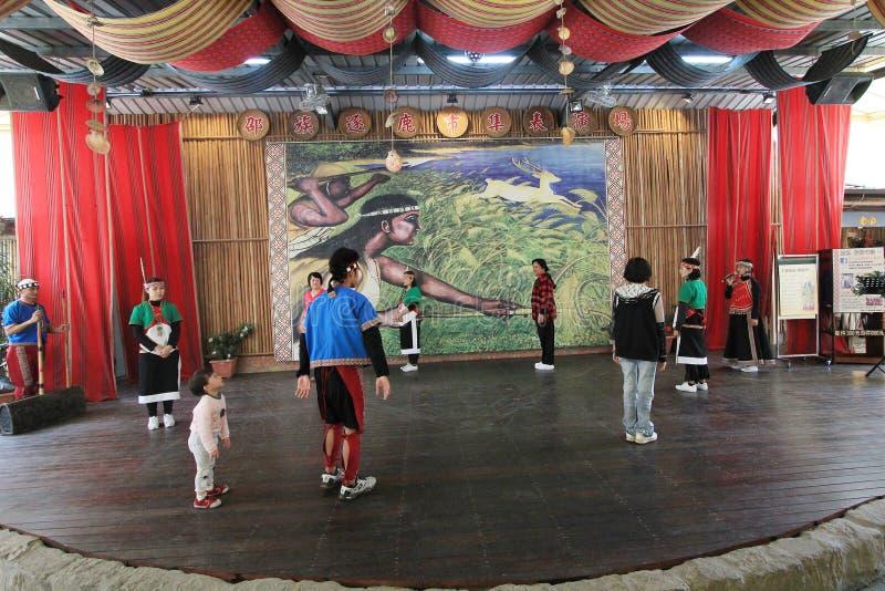 De traditionele gebeurtenis van muziekprestaties in Vietnam stock afbeelding