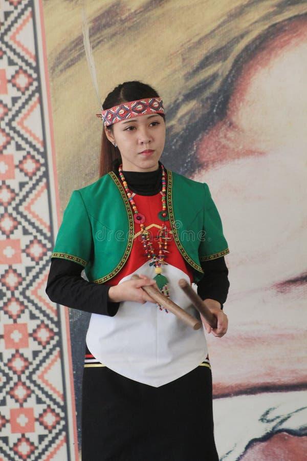 De traditionele gebeurtenis van muziekprestaties in Vietnam royalty-vrije stock fotografie