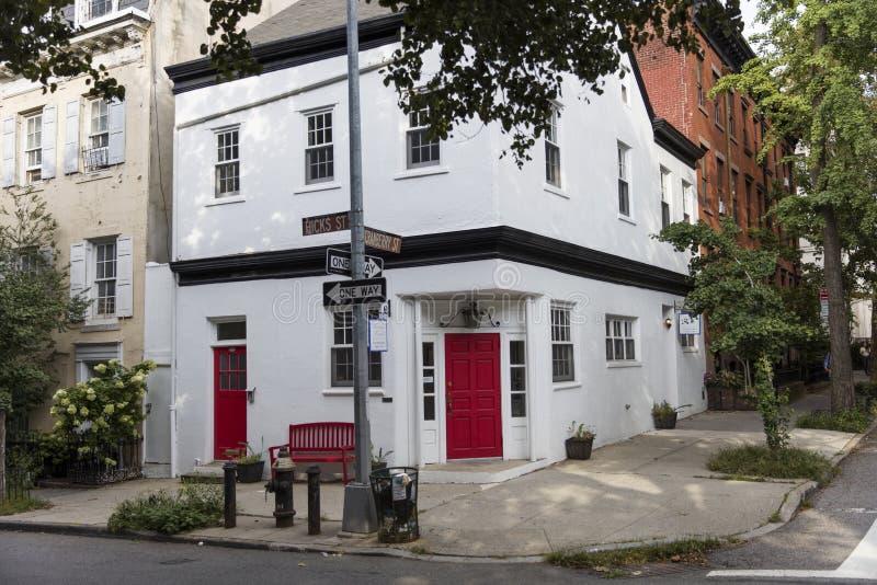 De traditionele gebouwen van New York van de Hoogten van Brooklyn stock foto