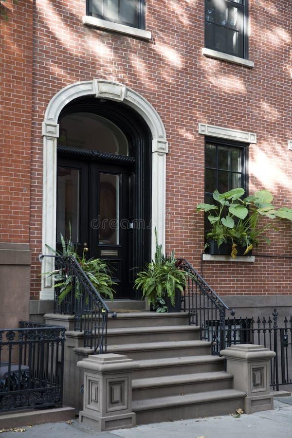 De traditionele gebouwen van New York van de Hoogten van Brooklyn stock afbeelding