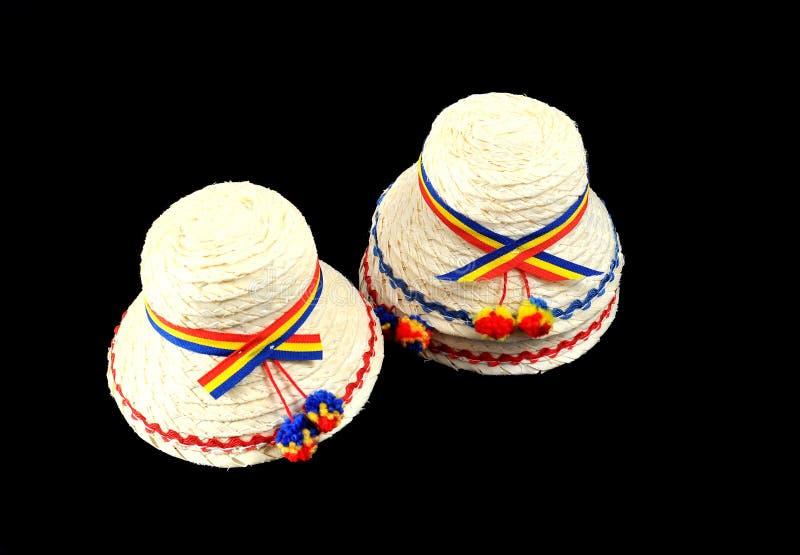 De traditionele hoeden van Roemenië royalty-vrije stock afbeelding