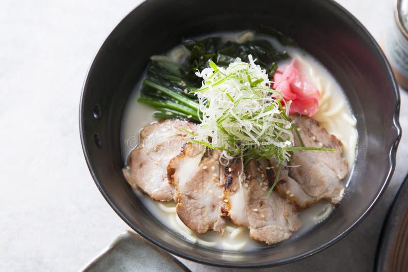 De traditionele Japanse soep ramen royalty-vrije stock afbeelding