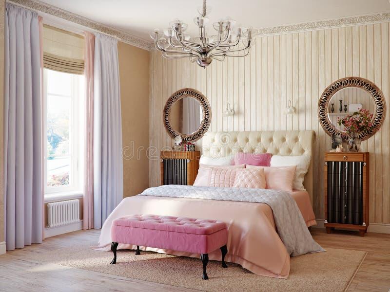 De traditionele Klassieke Moderne Rustieke Slaapkamer van de Provence stock afbeeldingen