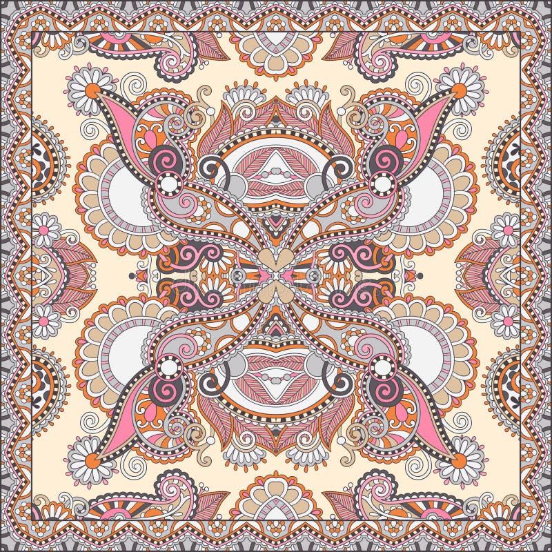De traditionele sier bloemenbandana van Paisley vector illustratie