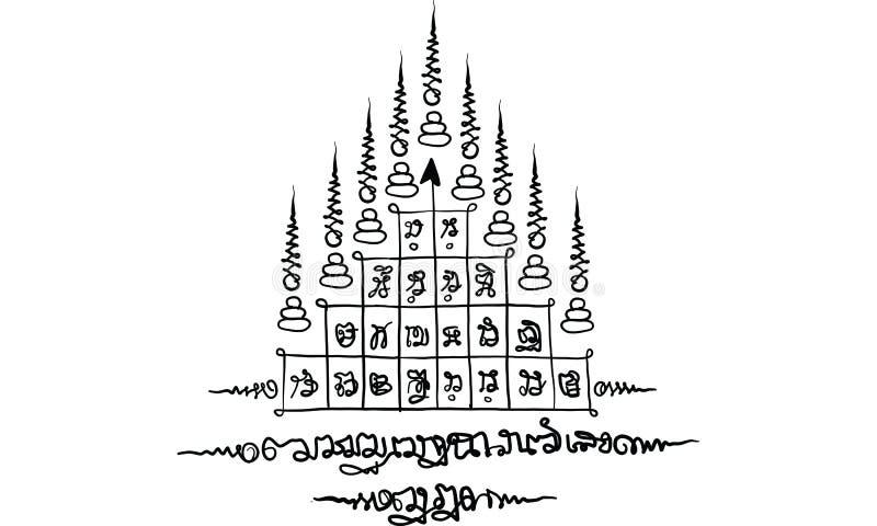 De traditionele tatoegering van Thailand royalty-vrije stock fotografie