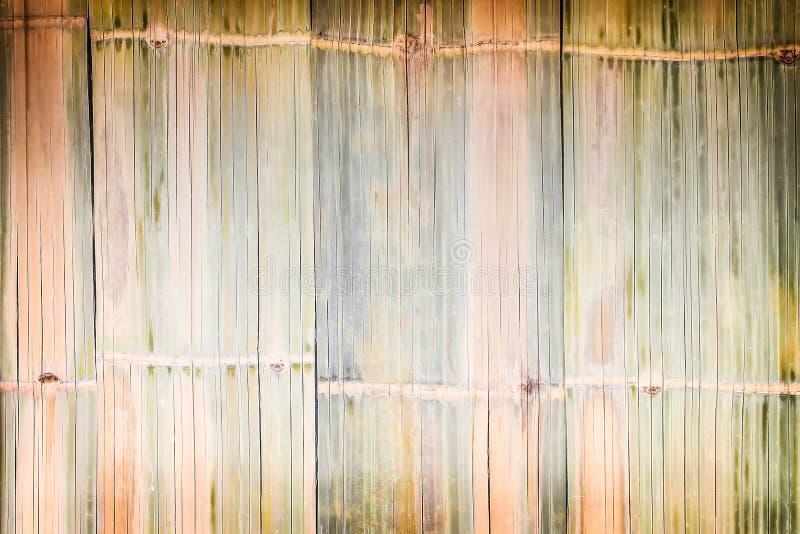 De traditionele textuur van de Bamboeomheining, Natuurlijke patronen abstracte achtergrond royalty-vrije stock foto's